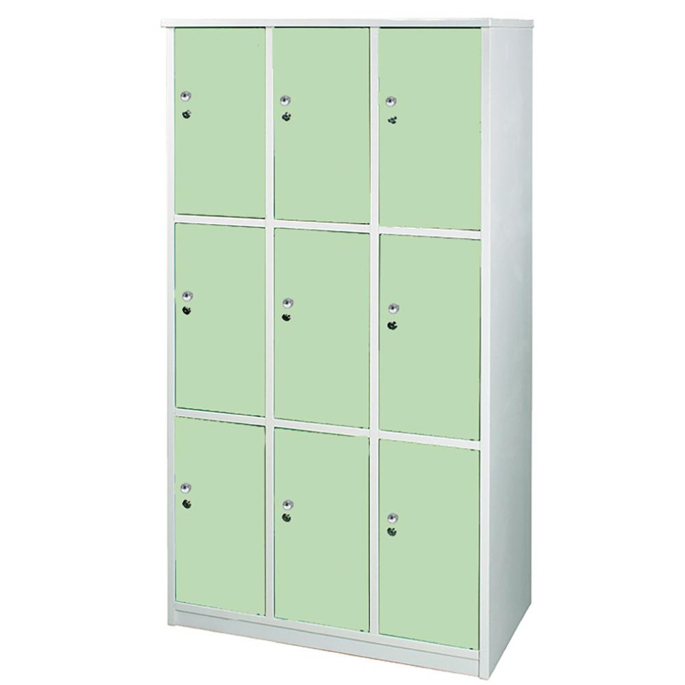 文創集 艾倫環保3.5尺塑鋼九門格置物櫃/收納櫃-105x51x180cm-免組