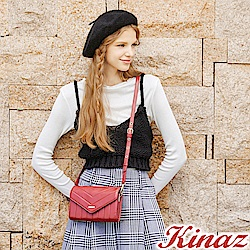 KINAZ 愛戀幾何多用斜背包-迷情紅-城市輕旅系列
