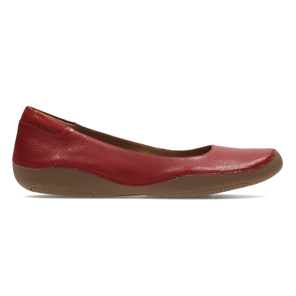 Clarks Autumn Sun女休閒鞋 紅