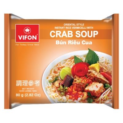 【VIFON味豐】越南 蟹湯風味米細麵 80g/包