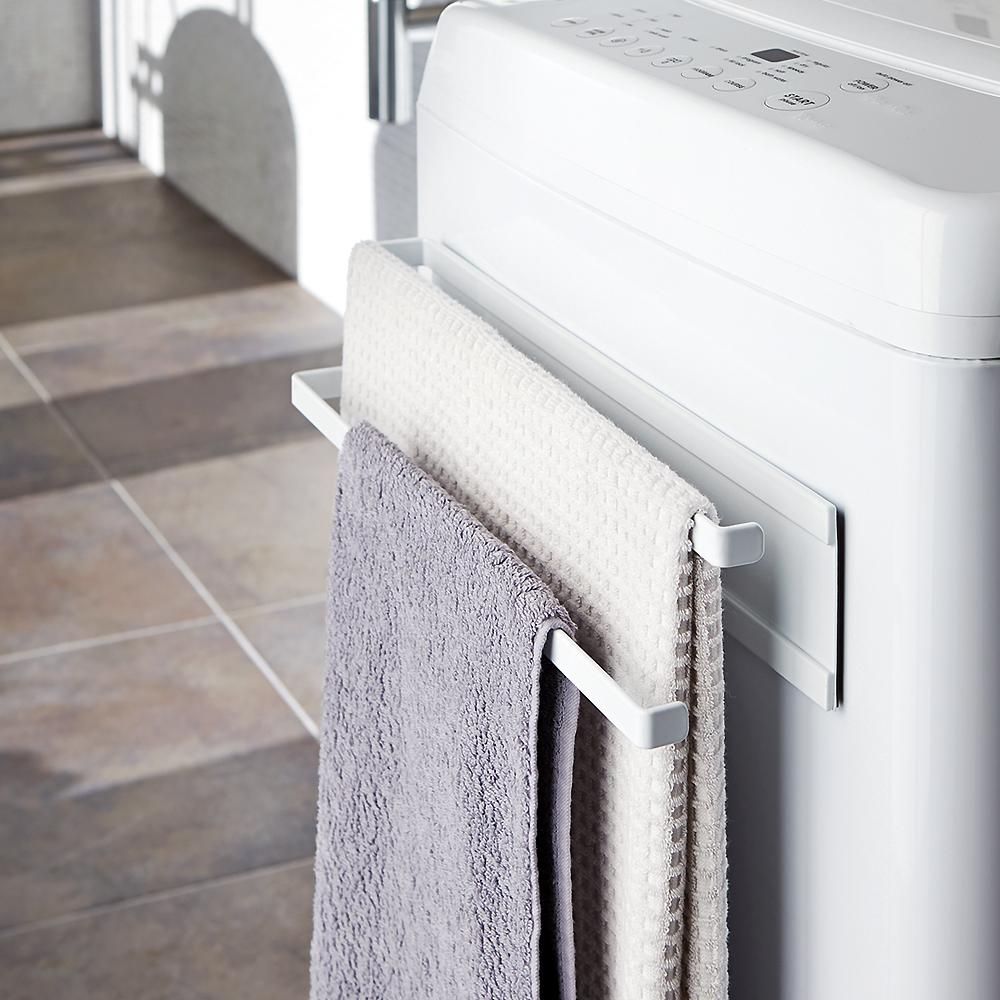 YAMAZAKI Plate磁吸式雙層毛巾架★置物架/多功能收納/居家收納/廚房收納