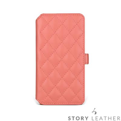 STORYLEATHER iPhone XS Max 6.5吋 硬殼式側翻菱格客製化皮套