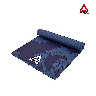 Reebok 防滑波紋瑜珈墊-4mm(筆刷藍)