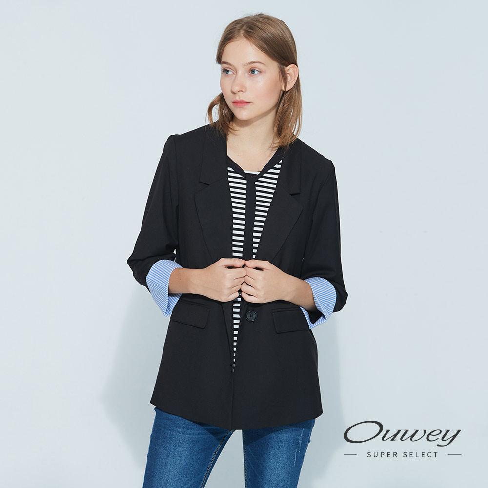 OUWEY歐薇 時尚簡約西裝外套(黑) @ Y!購物