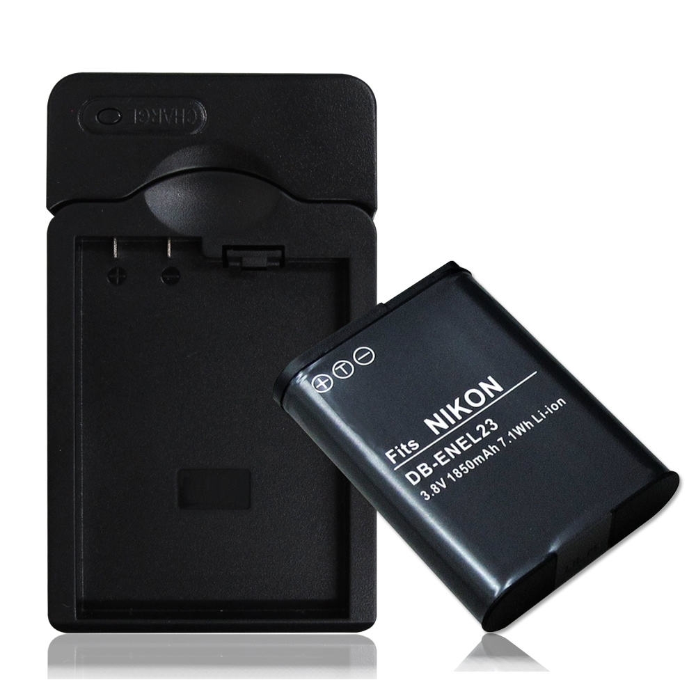 WELLY Nikon ENEL23 / EN-EL23 認證版 防爆相機電池充電組