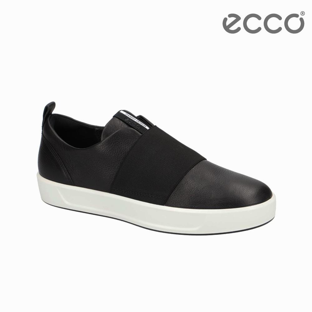 ECCO SOFT 8 LADIES 簡約休閒鞋-黑