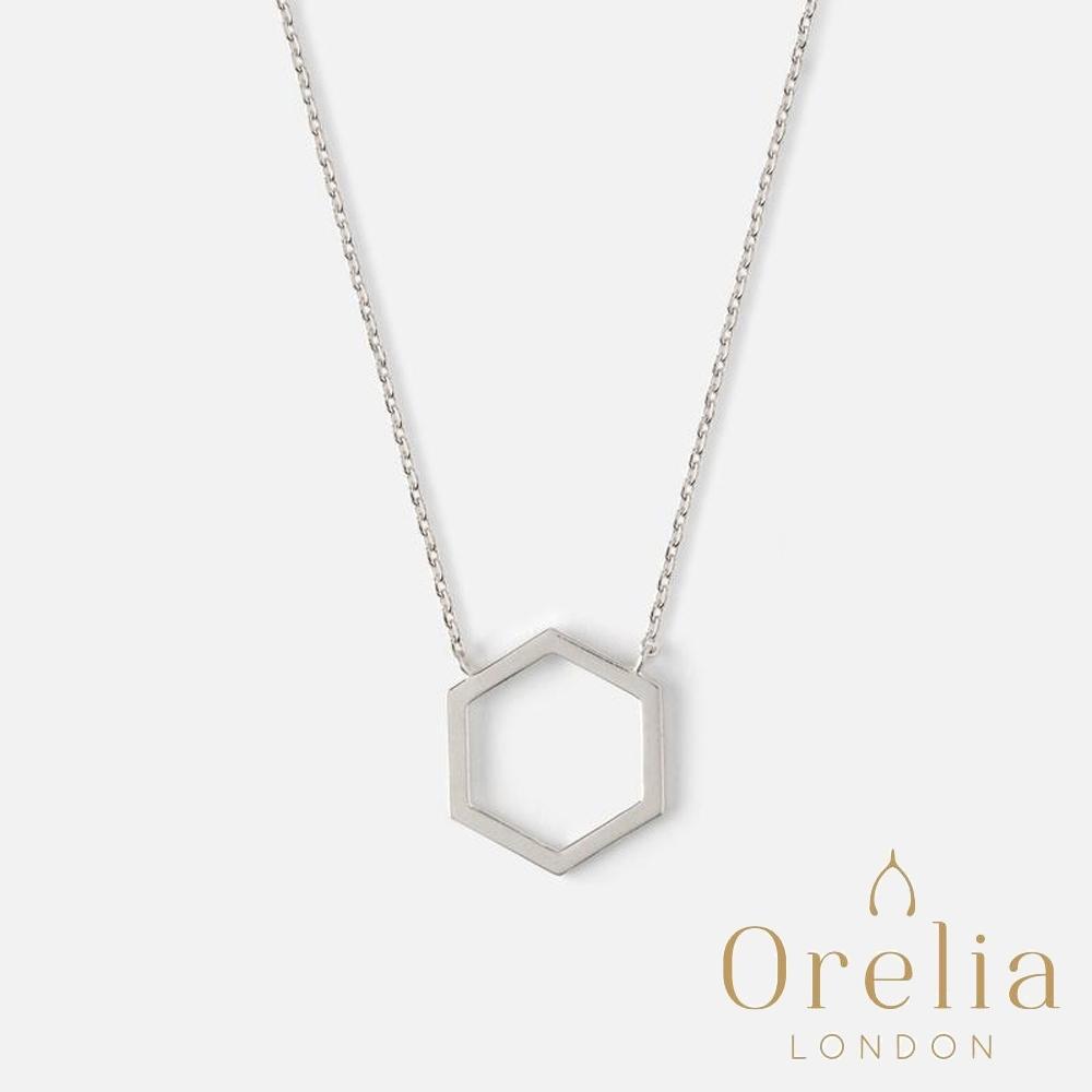 Orelia 英國倫敦 幾何六角形鏤空項鍊