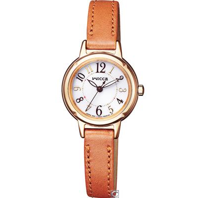 CITIZEN 星辰 wicca 漾動甜心時尚腕錶(KP3-627-10)24mm