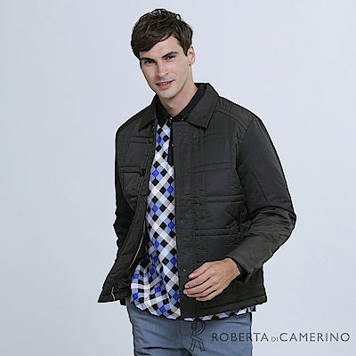 ROBERTA諾貝達 時尚型男 內裡舖棉夾克外套 深綠