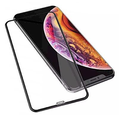 iPhone XR 6.1吋 5D冷雕滿版曲面全覆蓋 9H鋼化玻璃膜(贈迷你立架)