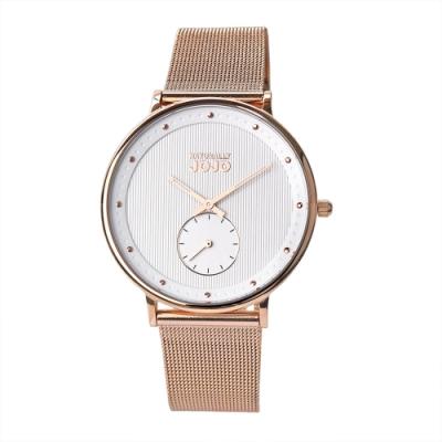 NATURALLY JOJO 極致完美時尚腕錶-玫瑰金/36mm