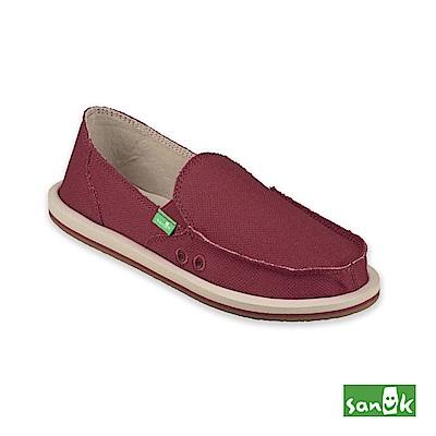 SANUK-DONNA HEMP 麻布素面懶人鞋-女款(紅棕色)
