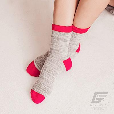 GIAT 台灣製花紗高棉萊卡童短襪(紅色)