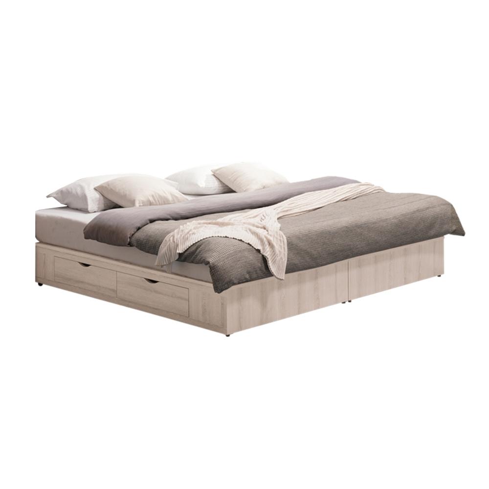 文創集 馬爾他 現代5尺雙人四抽收納床底(不含床墊)-151.5x188x26cm免組