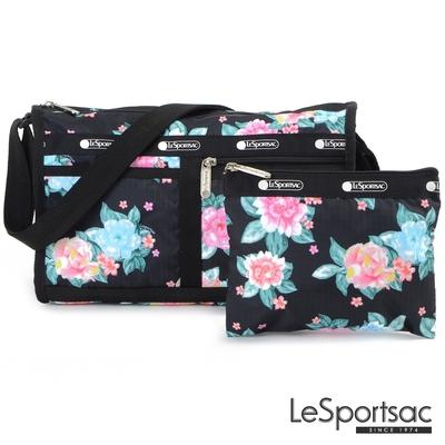 LeSportsac - Standard雙口袋斜背包-附化妝包 (夢幻花園)