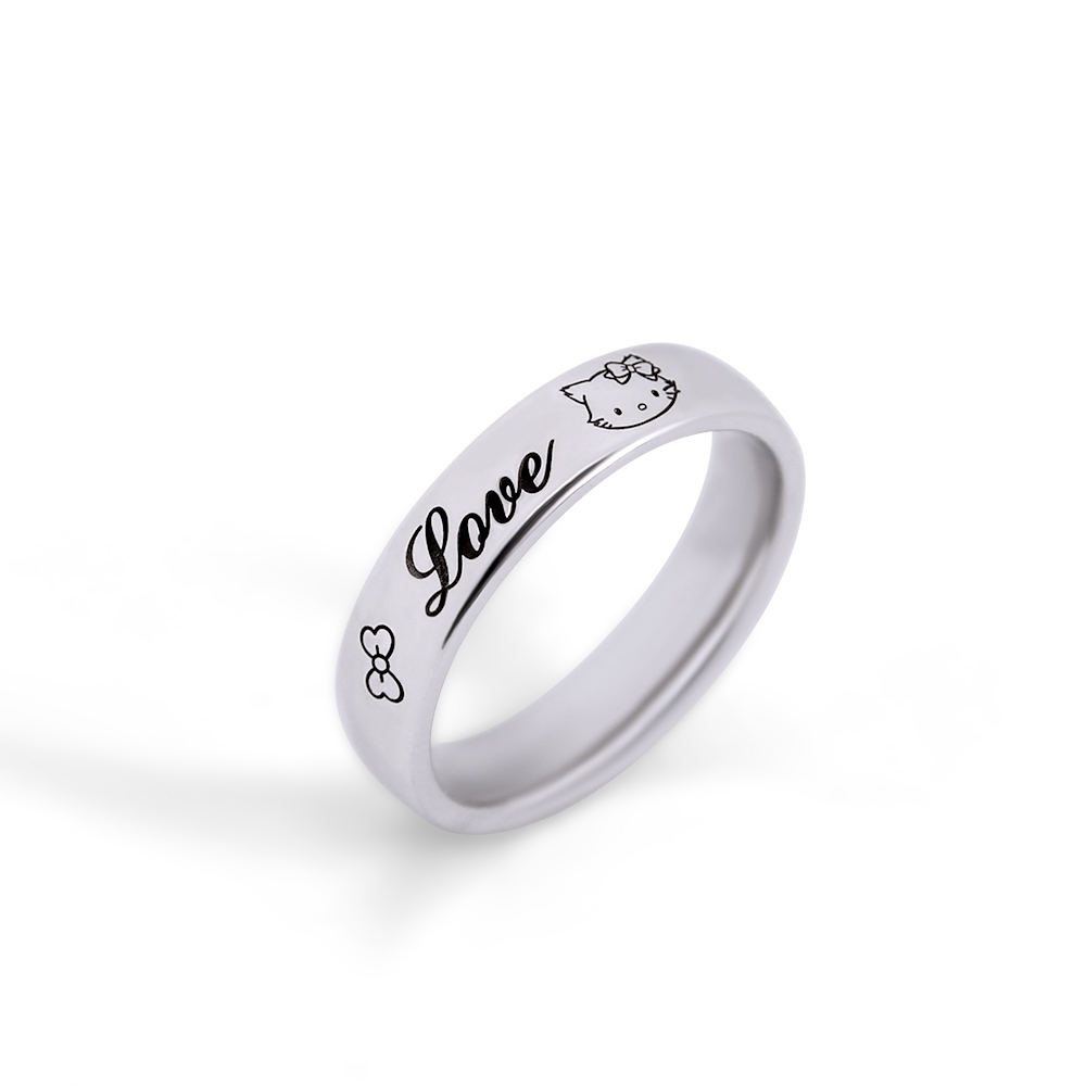STORY故事銀飾-CharmmyKitty系列-恰咪Kitty訂製純銀戒指(鍍色款)