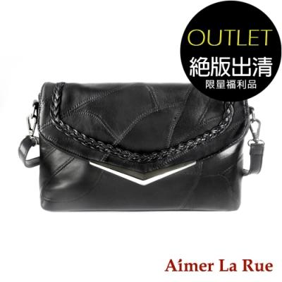 [福利品]Aimer La Rue 側背包 羊皮時尚輕巧系列(V字款)(絕版出清)