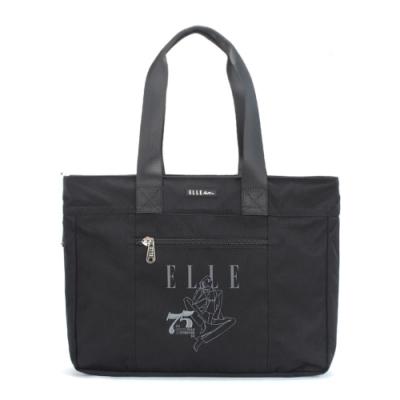 【ELLE Active】75周年限定系列-托特包/購物袋-大-黑色