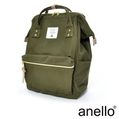 anello 經典口金後背包 卡其綠 Regular