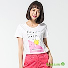 bossini女裝-印花短袖T恤52白