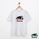 男裝Roots 白星顆粒短袖T恤-白