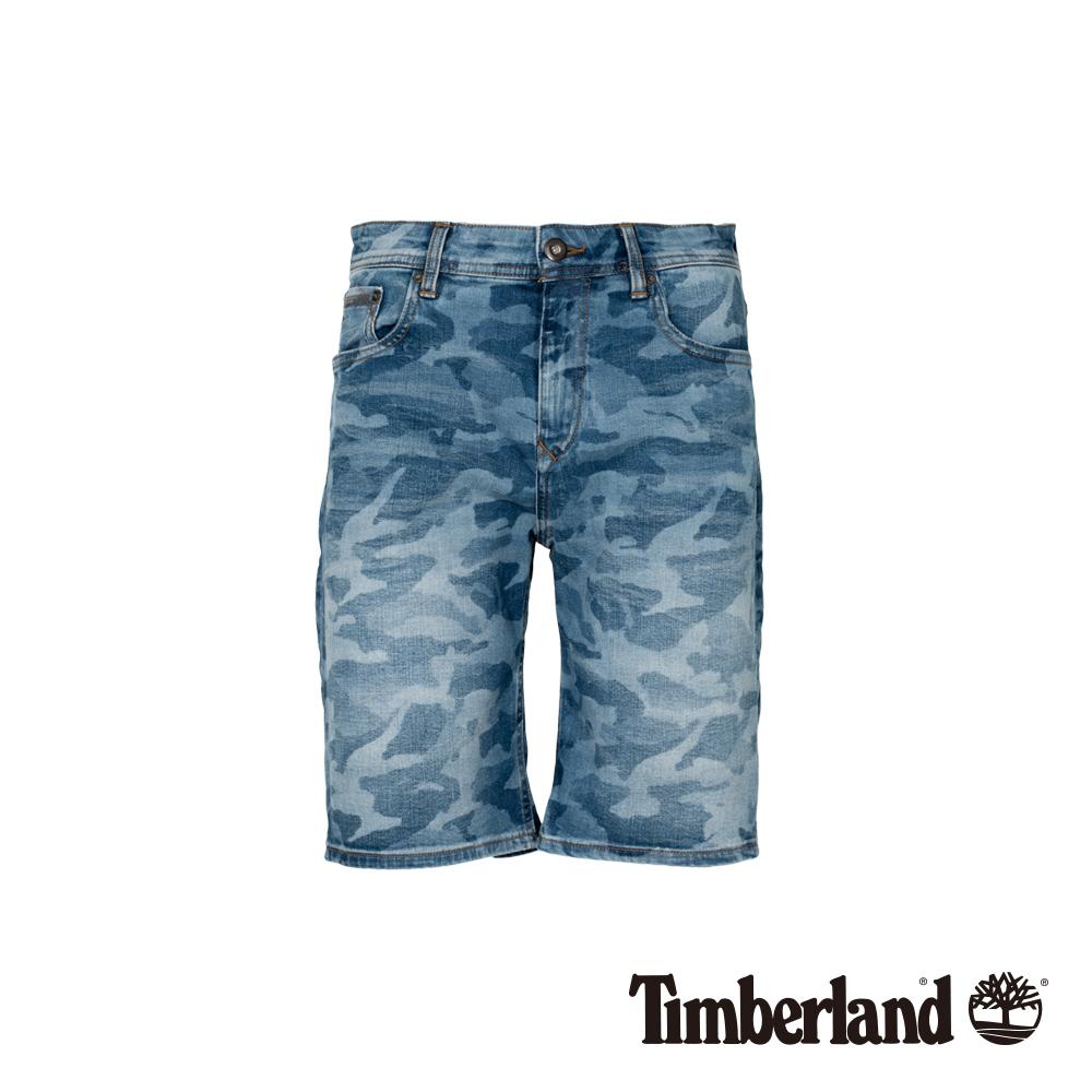 Timberland 男款藍色迷彩牛仔短褲 A1WJ6