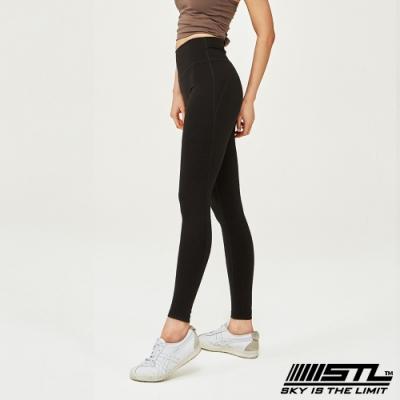 STL Leggings Seven Days 9 韓國 中低腰 運動瑜珈 拉提塑身緊身壓力褲 黑