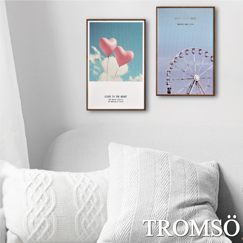 TROMSO 北歐生活版畫有框畫-甜蜜假期WA60(兩幅一組)