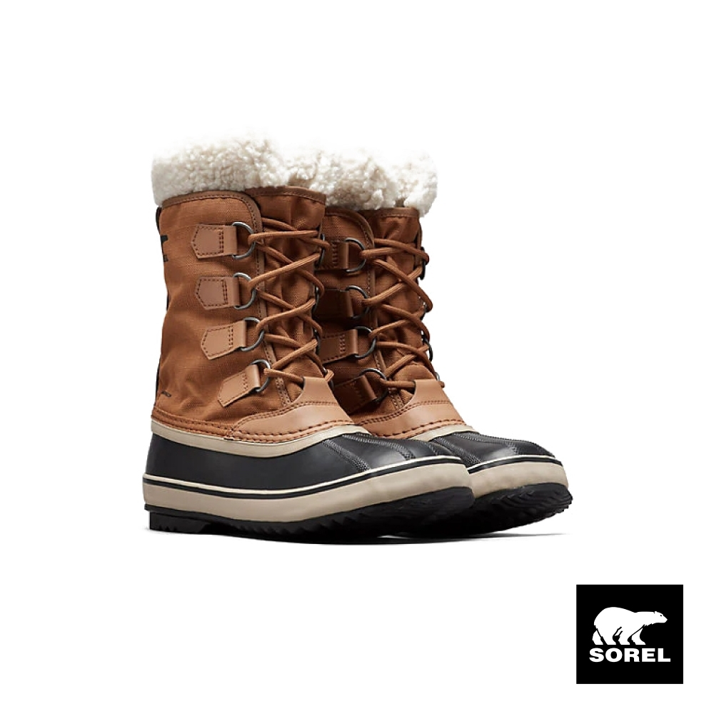 SOREL-節慶系列女款帆布運動靴-駝色