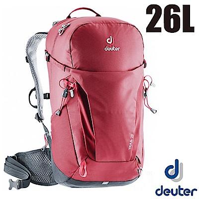 德國 Deuter 新款 Trail 26L 專業輕量拔熱透氣背包_紅
