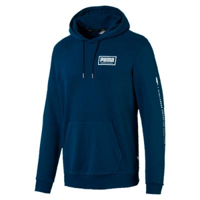 PUMA-男性基本系列Holiday長厚連帽T恤-直布羅陀海藍-歐規