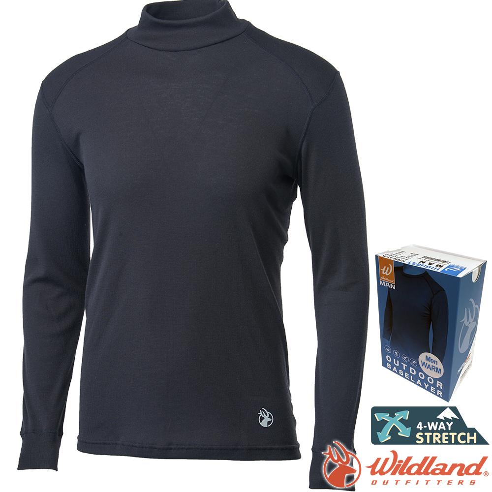 Wildland 荒野 H2662-54黑 男Highest立領保暖衣 發熱衣