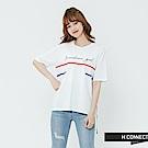 H:CONNECT 韓國品牌 女裝-撞色線條設計感上衣-白