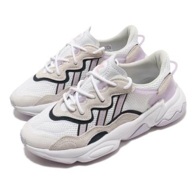 adidas 休閒鞋 Ozweego 老爹鞋 厚底 女鞋 愛迪達 三葉草 穿搭 反光 流行款 白 紫 FY3129