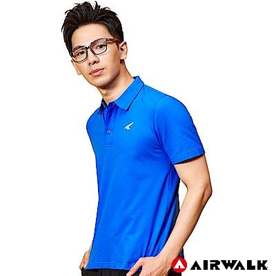 【AIRWALK】男款吸排短T-中藍