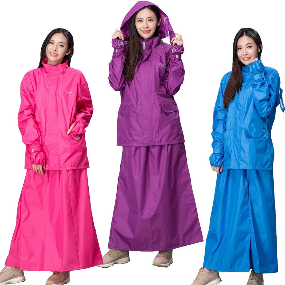 【東伸 DongShen】裙襬搖搖女仕型套裝雨衣