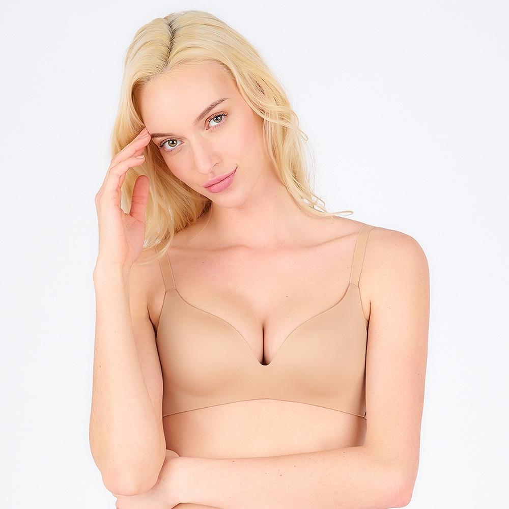 黛安芬-舒適自在系列 記憶枕無痕無鋼圈 B-C罩杯內衣 裸膚色