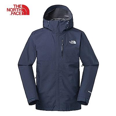 The North Face北面男款藍色防水透氣衝鋒衣|3VR9TNG