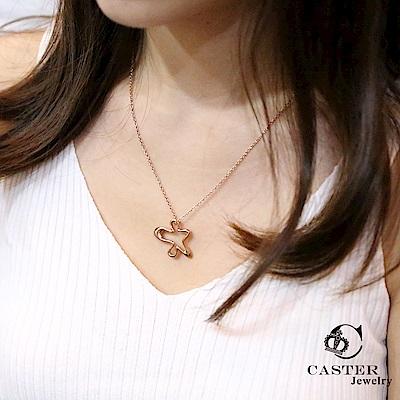 日本 凱斯特 CASTER 精靈在跳舞 玫瑰金項鍊 防抗過敏 SUS316L頂級不鏽鋼飾品