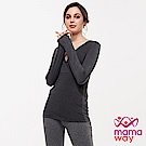 mamaway媽媽餵 保暖中空紗孕哺衛生衣(共兩色)