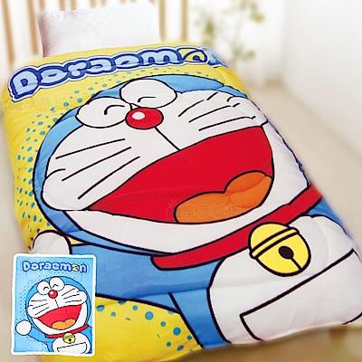 享夢城堡 刷毛暖暖毯被150x195cm-哆啦A夢DORAEMON 歡樂無限-藍