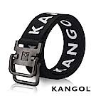 KANGOL EVOLUTION系列 英式潮流休閒雙環釦皮帶-白色字母 KG1181