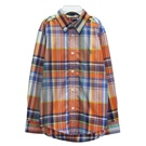 Ralph Lauren 小童小馬格子長袖襯衫-橘色(5歲)