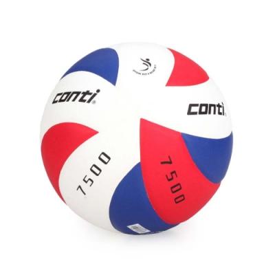 conti 5號日本頂級超級細纖纖維貼布排球 CONTI 紅藍白