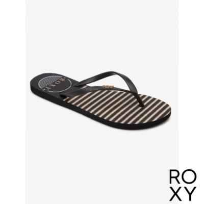 【ROXY】VIVA STAMP II 拖鞋 黑白