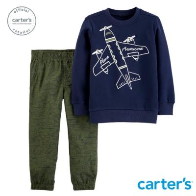 Carter s台灣總代理 飛機印圖2件組套裝