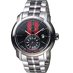 MINI Swiss Watches Cooper復古賽車機械錶(MINI-102E)-紅