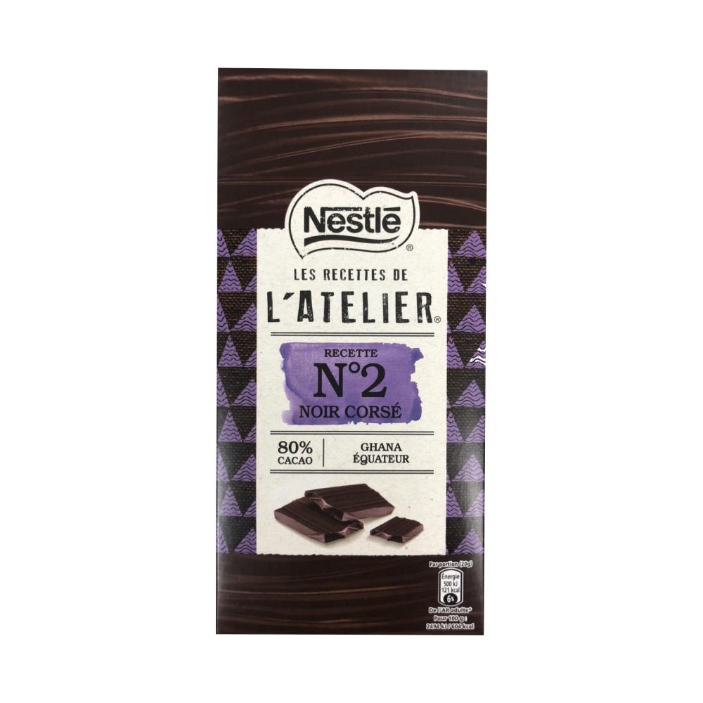 雀巢 LRLAN2水果風味80%黑巧克力(100g)