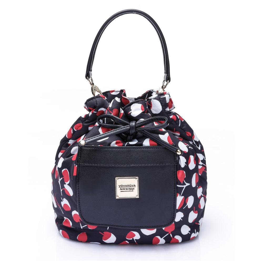 VOVAROVA空氣包-口袋水桶包-Cherrypicks(Black&Red)