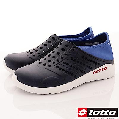 Lotto樂得-潮流洞洞鞋-SI756丈青(男段)